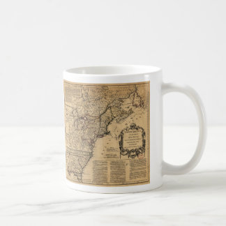 Map of North America by Jefferys & Anville (1755) Coffee Mug