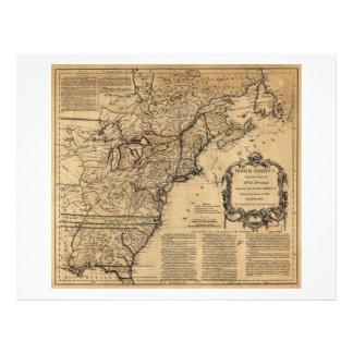 Map of North America by Jefferys & Anville (1755) Letterhead