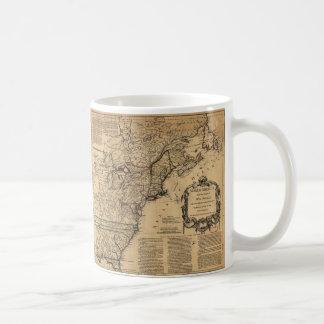 Map of North America by Jefferys & Anville (1755) Classic White Coffee Mug