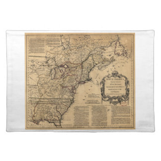 Map of North America by Jefferys & Anville (1755) Cloth Place Mat