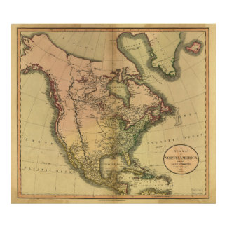 Map of North America by John Cary (1811) Poster