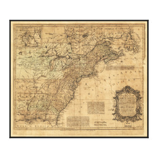 Map of North America by Thomas Kitchin (1755) Canvas Print