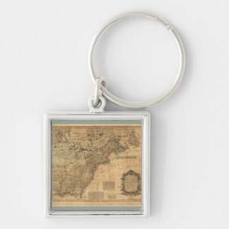 Map of North America by Thomas Kitchin (1755) Keychain