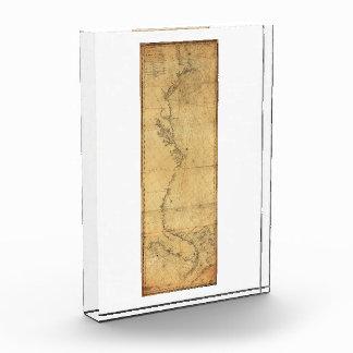 Map of North America Cape Cod to Havannah (1784) Acrylic Award