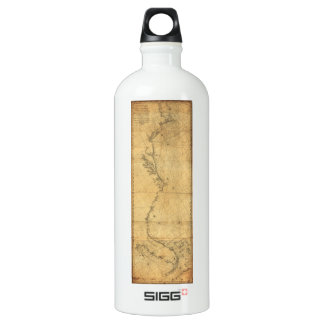 Map of North America Cape Cod to Havannah (1784) Aluminum Water Bottle