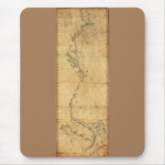 Map of North America Cape Cod to Havannah (1784) Mouse Pad