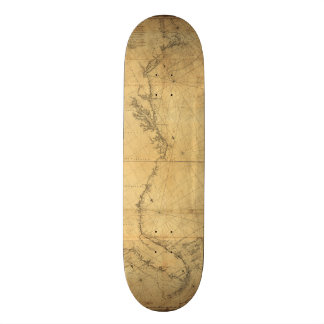 Map of North America Cape Cod to Havannah (1784) Skateboard Deck