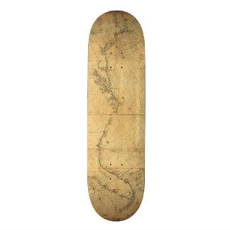 Map of North America Cape Cod to Havannah (1784) Skateboard Deck