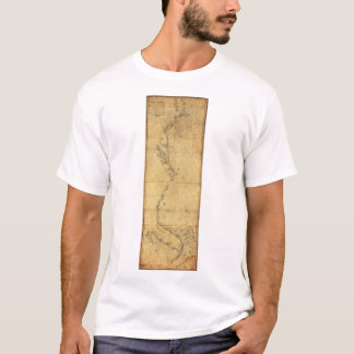 Map of North America Cape Cod to Havannah (1784) T-Shirt