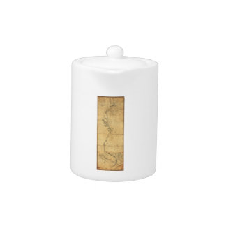 Map of North America Cape Cod to Havannah (1784) Teapot
