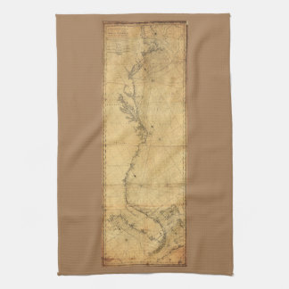 Map of North America Cape Cod to Havannah (1784) Towels