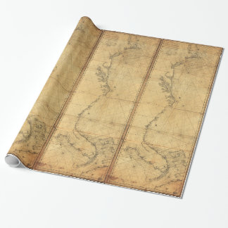 Map of North America Cape Cod to Havannah (1784) Wrapping Paper