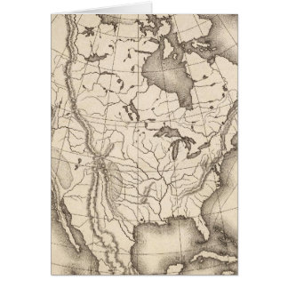 Map of North America Card