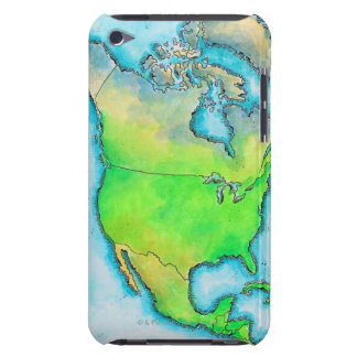 Map of North America iPod Case-Mate Case