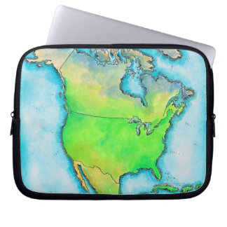 Map of North America Computer Sleeve