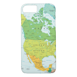 Map of North-America iPhone 8/7 Case