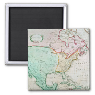 Map of North America Magnet