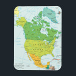 "Map of North-America Magnet<br><div class=""desc"">Love to travel? Where are you going? Where are you from. Get ready to explore the great American Continent. This colourfull political map of North America is a great accessory for everyone. A must have for all travel fantatics.</div>"