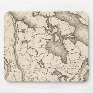 Map of North America Mouse Pad