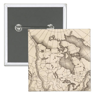 Map of North America Pinback Button