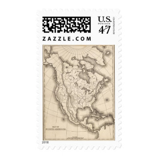 Map of North America Postage Stamp