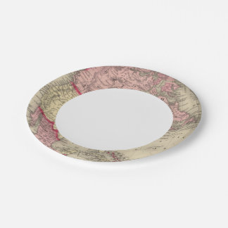 Map Of North America 7 Inch Paper Plate