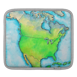 Map of North America Sleeve For iPads