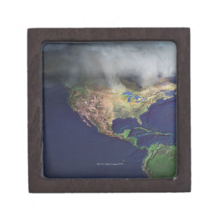Map of North America with fog Gift Box