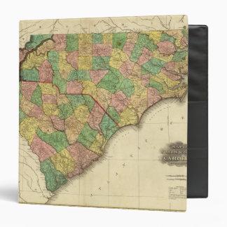 Map of North and South Carolina 3 Ring Binder