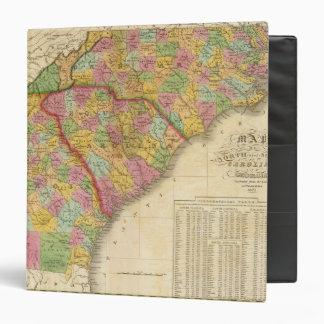 Map Of North and South Carolina And Georgia Binder