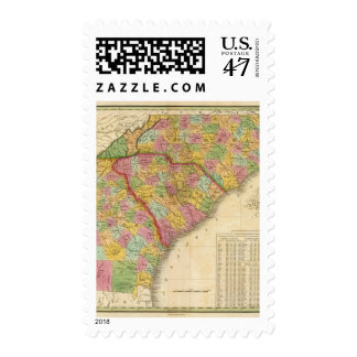 Map Of North and South Carolina And Georgia Postage