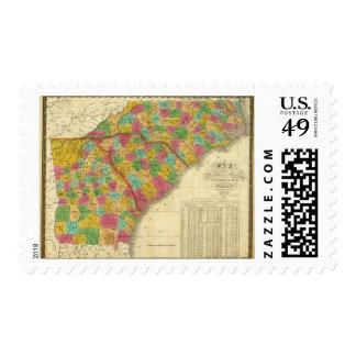 Map of North and South Carolina, and Georgia Stamp