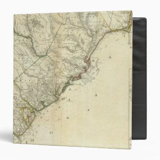 Map Of North And South Carolina Binder