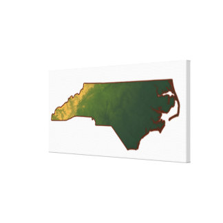 Map of North Carolina 2 Canvas Print