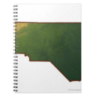 Map of North Carolina 2 Notebook