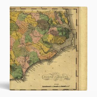 Map of North Carolina by Mathew Carey (1814) Binder