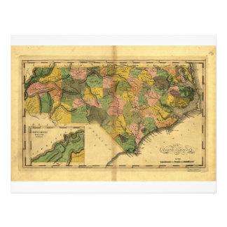 Map of North Carolina by Mathew Carey (1814) Letterhead