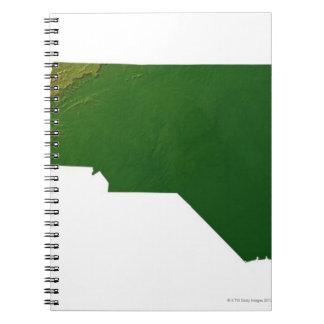 Map of North Carolina Notebook