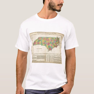 Map Of North Carolina T-Shirt