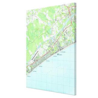 Map of North Myrtle Beach South Carolina (1990) Canvas Print