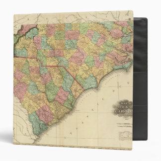 Map of North South Carolina 3 Ring Binder