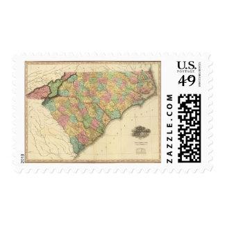 Map of North South Carolina Postage