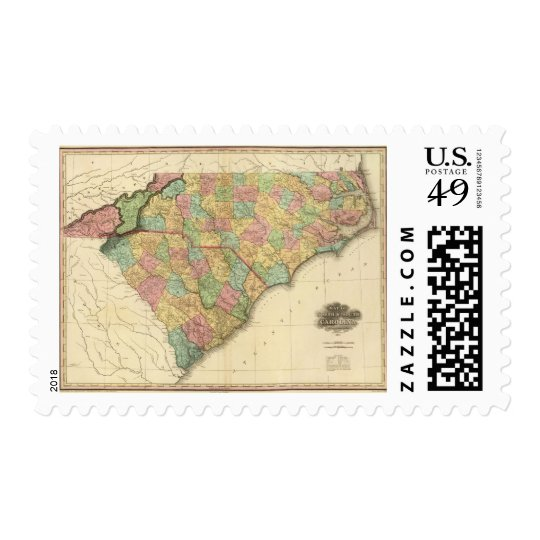 Map of North South Carolina Postage