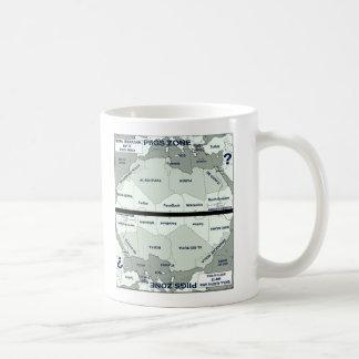 Map of Northen Africa/Southern Europe Coffee Mug
