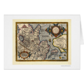 Map of Northern Asia by Abraham Ortelius 1603 Greeting Card