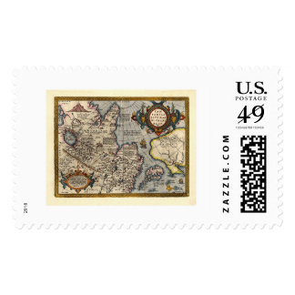 Map of Northern Asia by Abraham Ortelius 1603 Stamps