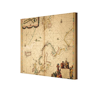 Map of Northern Europe Canvas Print