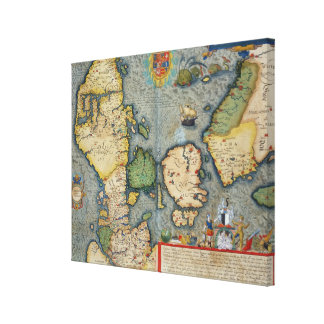 Map of Northern Europe, from 'Civitates Orbis Terr Canvas Print