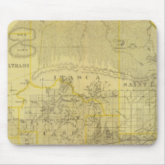 Map of Northern Minnesota, 1874 Mouse Pad