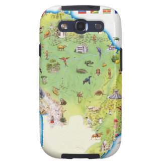 Map of Northern South America Galaxy S3 Covers